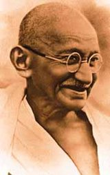 Mahatma Gandhi (1868-1948) - established India's independence by leading a non-violent movement