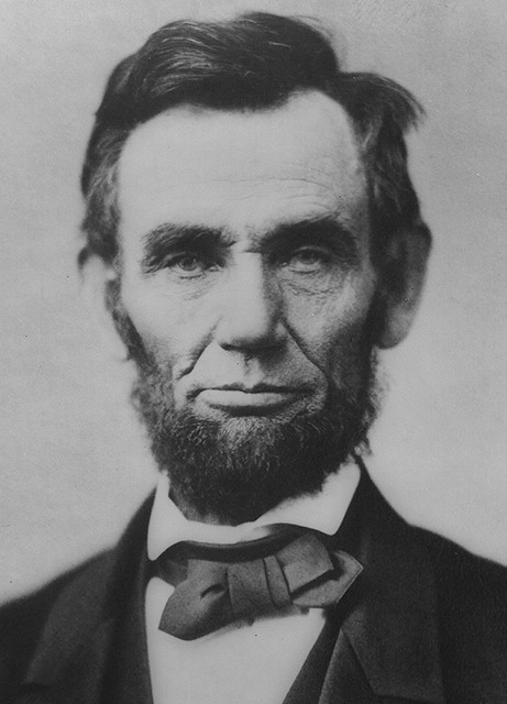 Abraham Lincoln (1806-1865) - 16th US President. One of the greatest leaders in US history