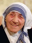 Mother Teresa (1910-1997), Nobel Peace Prize winner and tireless humanitarian worker and advocate
