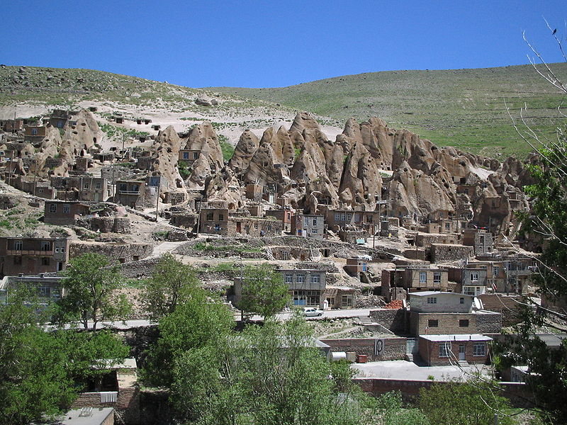 Kandovan Village from across the valley