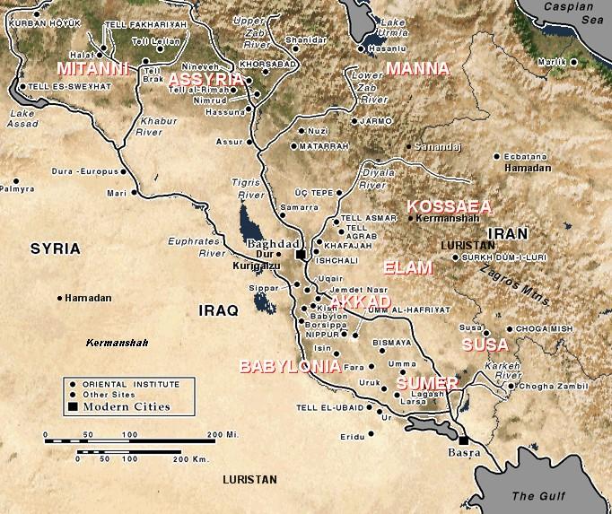 Zagros Mountains Mesopotamia Map  Info