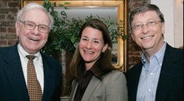 Warren Buffett, Melinda Gates, Bill Gates